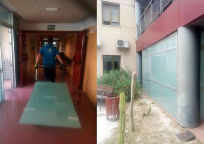 Cerramiento cristal hospital de Caravaca