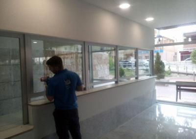 Cerramiento nueva seccion oficinas hospital