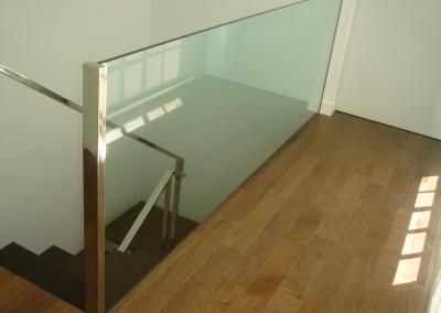 Baranda vidrio de seguridad ático