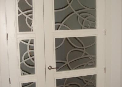 Cristales Puerta decorados