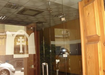 Cierre templado entrada Museo