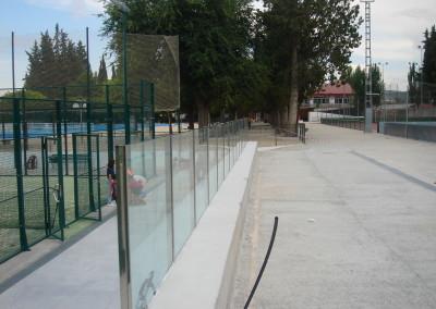 Baranda de Vidrio de seguridad laminar en Polideportivo Argos