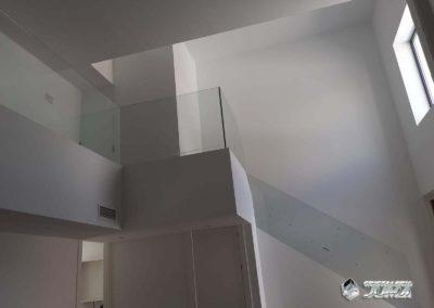 Baranda escalera de Cristal de seguridad sin perfilería
