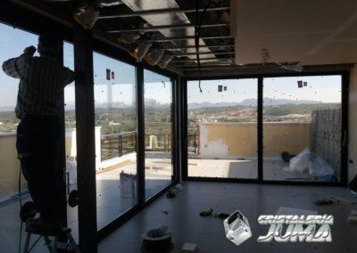 Cerramiento en terraza ático en Caravaca de la Cruz