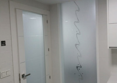 Puerta Cristal Central Completo Sin Marco
