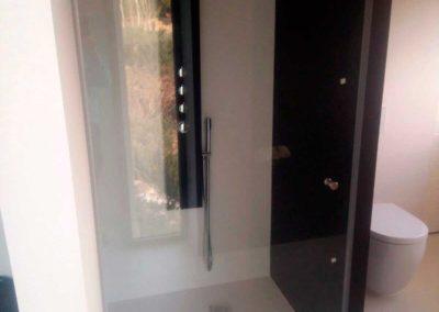 Puerta ducha sin perfiles