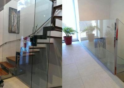 Cerramiento de Cristal para escalera