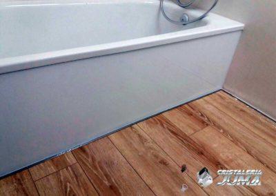 Cristal lacado blanco, bajo bañera