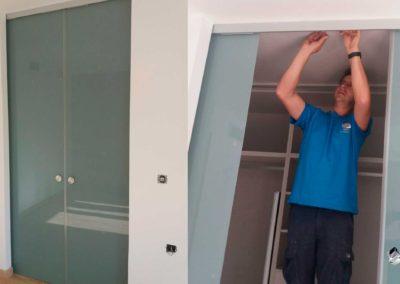 Puerta cristal templado vestidor